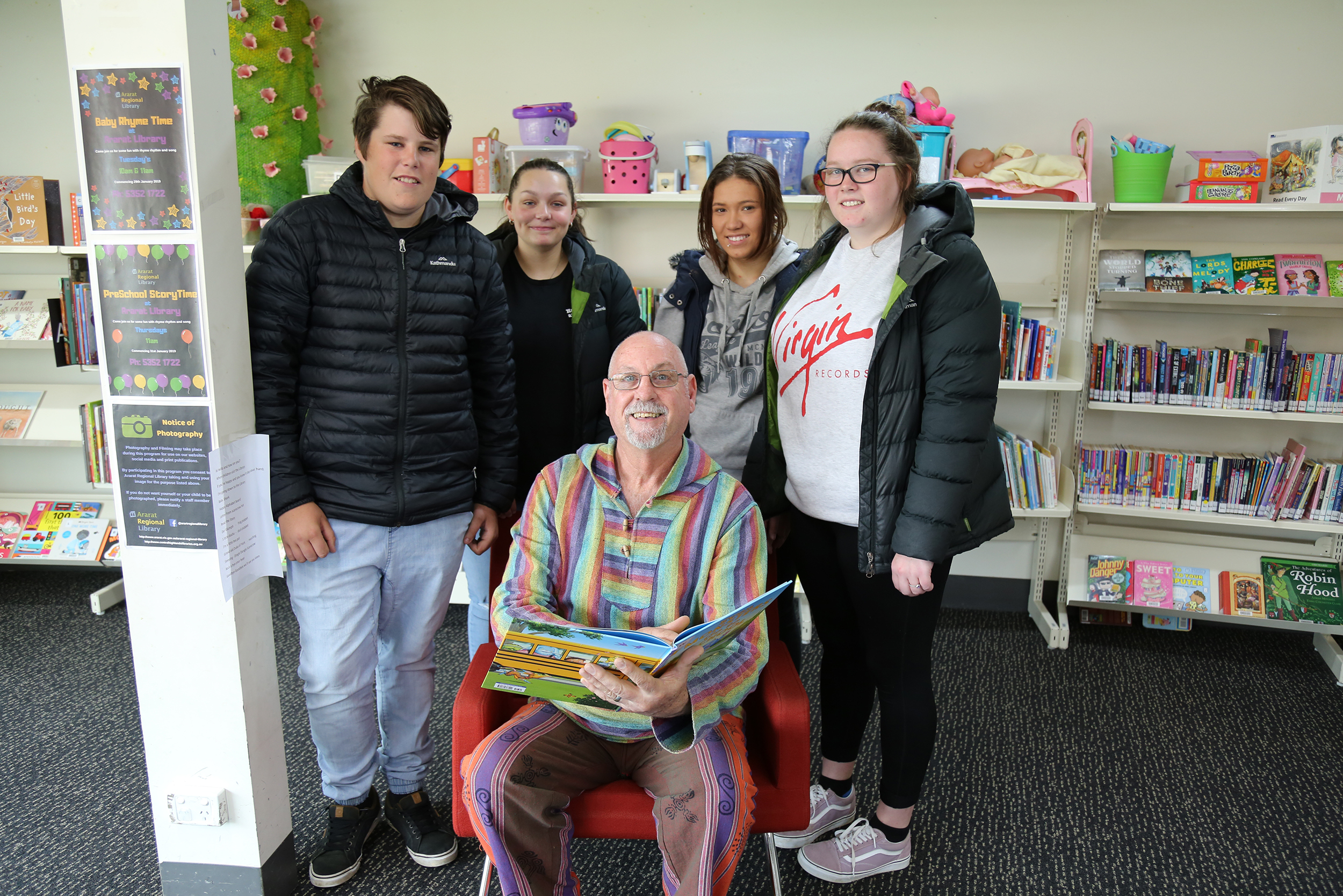 Early childhood students help out with Ararat Library Story Time