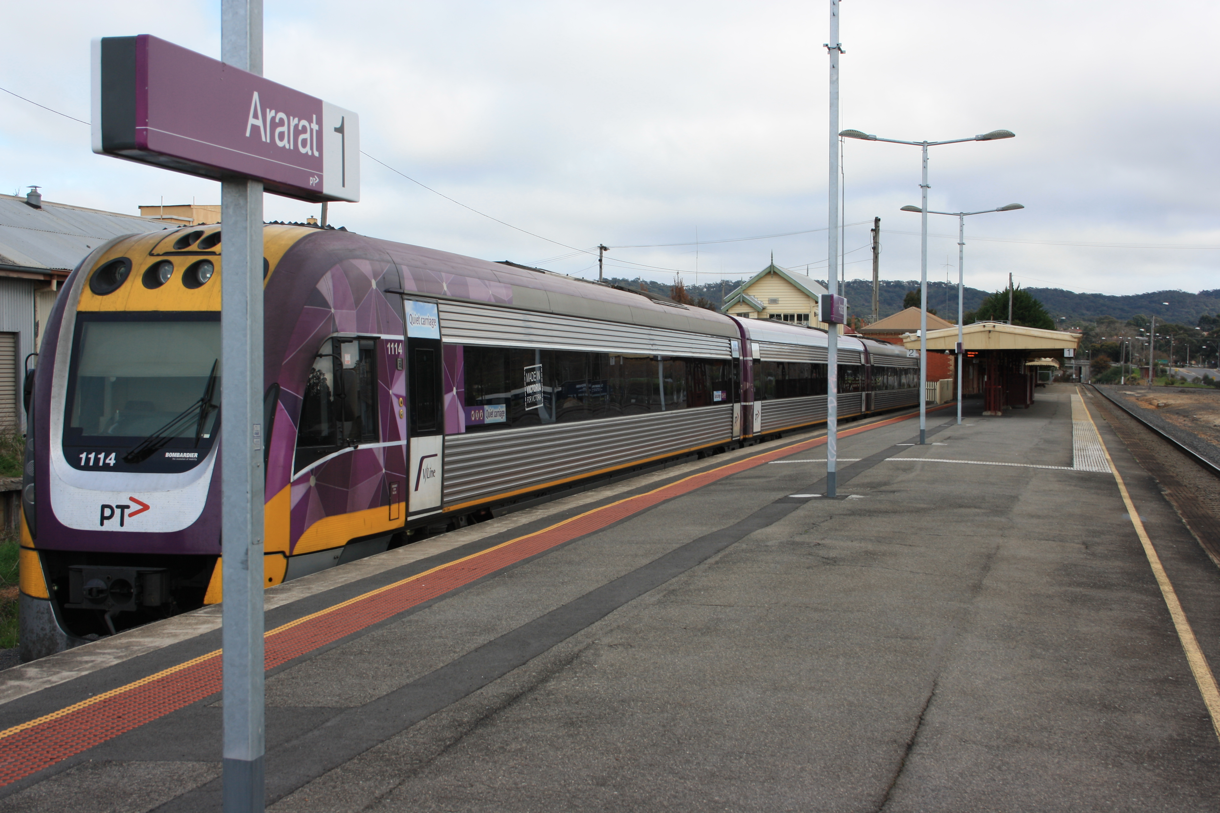 Announcements for Ararat passenger and freight rail services