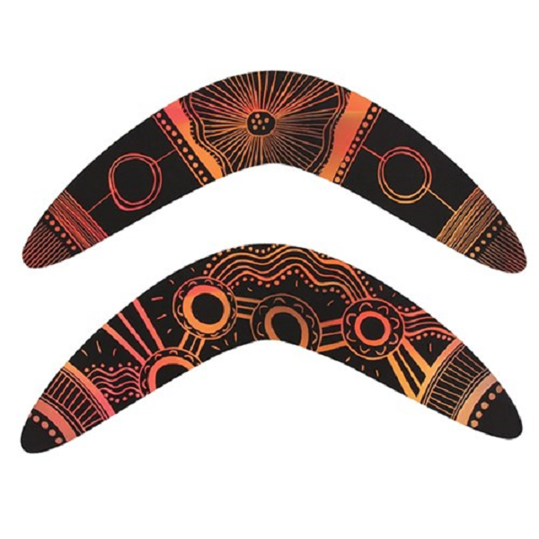 NAIDOC Week - Scratch Board Boomerangs