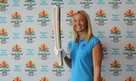 Brooke Hanson OAM with GC2018 Queen's Baton