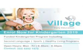 Village Early Education 'Come and Try Kindergarten' session